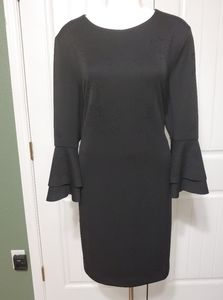 Alfani Womens Black Party Bell Sleeves Dress 18